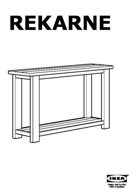Rekarne Sofa Table Pine Ikea United States Ikeapedia Rekarne Sofa Table