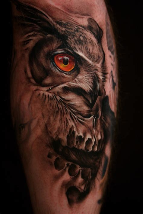 owl and skull tattoo ujltjvmt tattoos tattoos to see