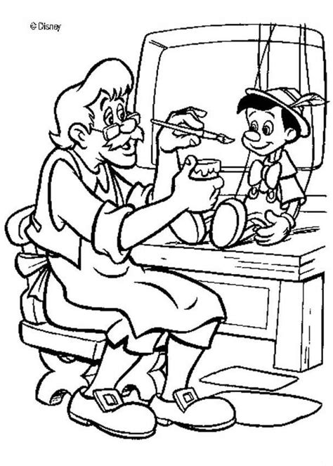Geppetto S Puppet Coloring Pages Hellokids Com Puppet Coloring Pages