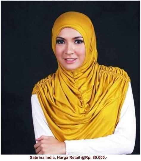 Vania Jilbab Biru Hitam Putih jilbab sabrina india mall pakaian indonesia