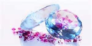 Light Blue Diamond Two Big Diamonds With Many Small Gems Rotating By