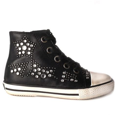 Set Ash Trainer Kid shop ash flash trainers in black leather available today