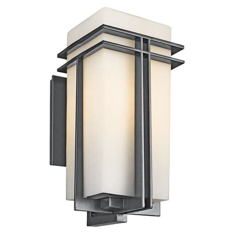 Patio Wall Lighting Shop Kichler Tremillo 20 25 In H Black Outdoor Wall Light At Lowes