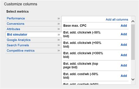 keyword bid adwords brings keyword bid simulator estimates into