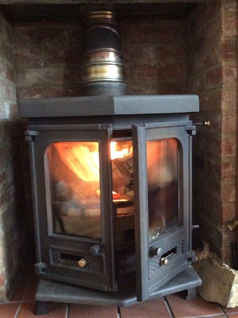 wood burning stove sitting room