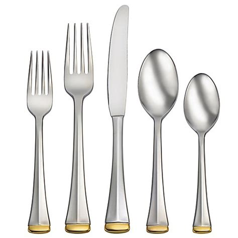 bed bath and beyond flatware oneida 174 gold dorchester 75 piece flatware set bed bath