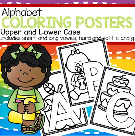 printable alphabet poster upper and lower case alphabet posters coloring printables upper and lower case
