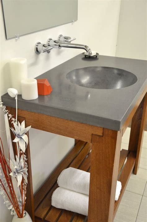 Sink Bowl On Top Of Vanity Concrete Bowl Vanity Top Sink By Artifactconcrete On Etsy 735 53 Bathroom Ideas
