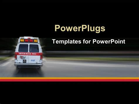 Ambulance Powerpoint Template Powerpoint Template Ambulance Going To Hospital For