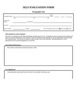 self appraisal form template employee evaluation form exle 11 free word pdf