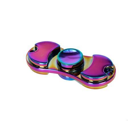 Fidget Spinner Rainbow Holo Aluminium Murah aluminum rainbow fidget spinner