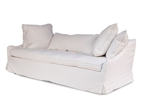 white linen sofa uk country chic shabby white belgium linen sofa 85 x