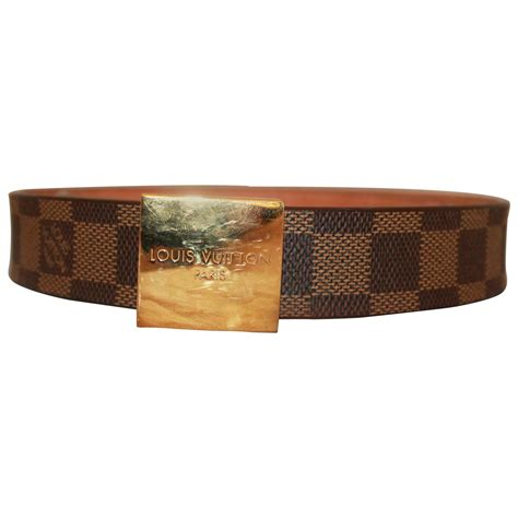 louis vuitton brown damier belt w gold quot louis vuitton