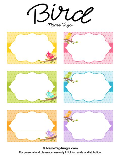 printable label art free printable bird name tags the template can also be