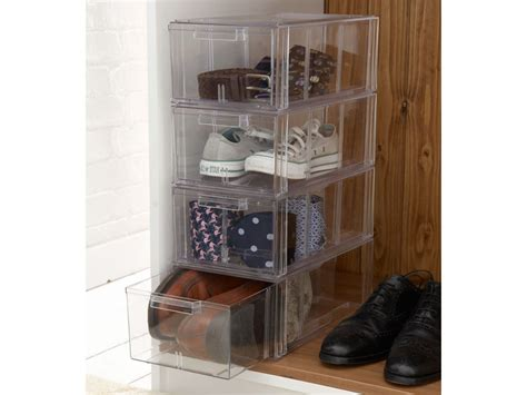 shoe storage drawer acrylic stackable shoe storage drawers large clear