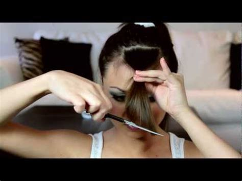 how to cut side swept bangs at home how to save