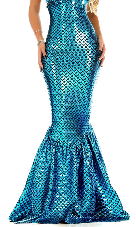 turquoise high waisted mermaid skirt with hologram finish