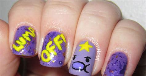 acrylic paint lumpy zoendout nails lump lumpy space princess nails