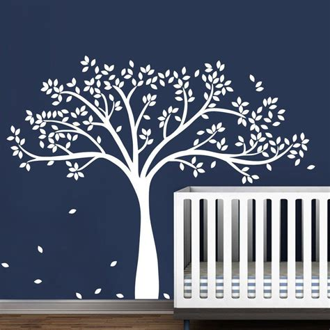 large white tree wall decal for nursery vinyl large tree