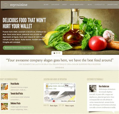 wordpress themes free food blog 21 wordpress themes for food blogger