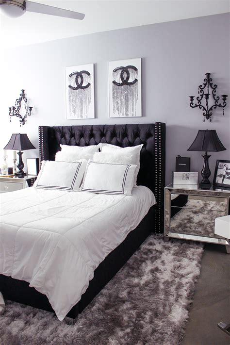 Glam Bedroom Decor by Black White Bedroom Decor Reveal