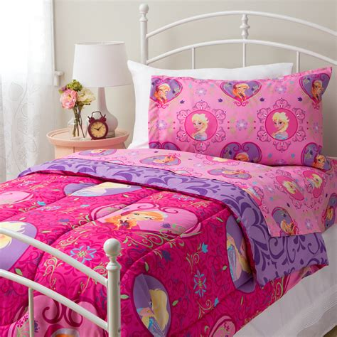 frozen bedding set twin frozen bed set girls twin bedding disney pink anna elsa sisters purple comforter