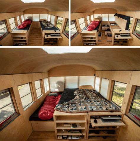 Renovated Campers For Sale by Beautifully Simple Bus Turned Minimal Mobile Home