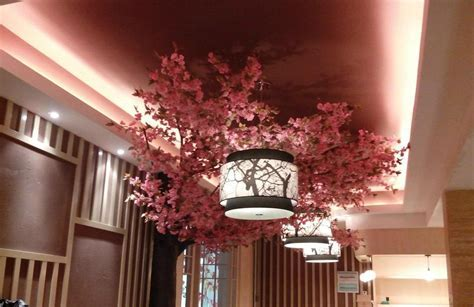 Artificial fake cherry blossom tree decoration outdoor