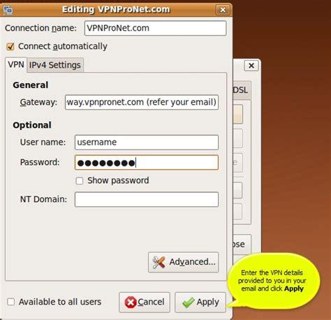 tutorial vpn linux ubuntu pptp vpn connection failed svchost memory high