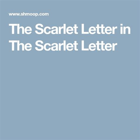 The Scarlet Letter Analysis