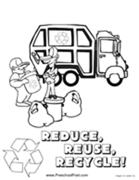 recycle coloring pages preschool reduce reuse recycle for kids coloring pages