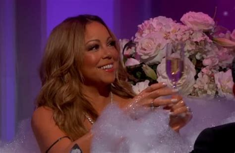 mariah carey bathtub mariah carey takes a bath with jimmy kimmel watch us weekly