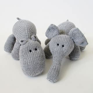 uber pattern library ravelry hippo and elephant pattern by amanda berry