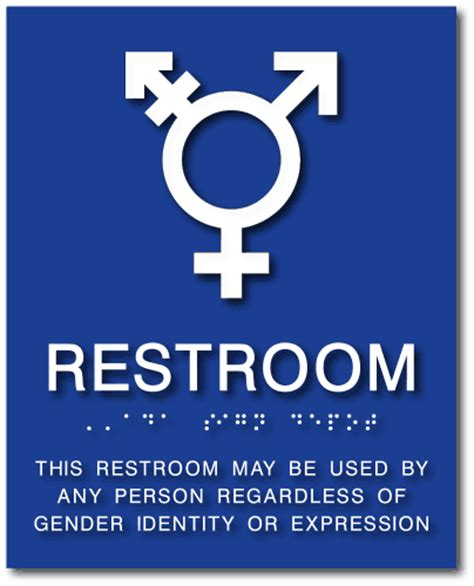 Bathroom Gender All Gender Neutral Symbol Bathroom Sign With Braille