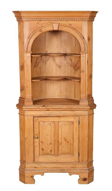 eckschrank fichte antique pine corner cabinet cupboard arched rustic