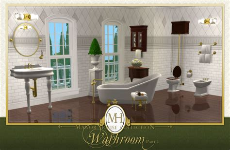 mod the sims manor house collection washroom pt i