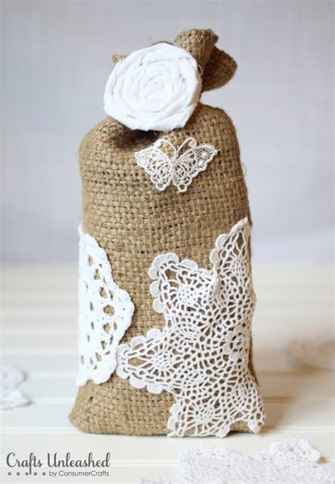 burlap crafts for burlap crafts shabby chic gift bags