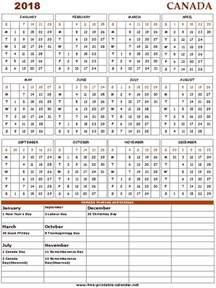 Calendar 2018 Pdf Canada 2018 Canada Calendar Print Calendars