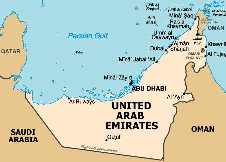 map uae christopher s expat adventure united arab emirates