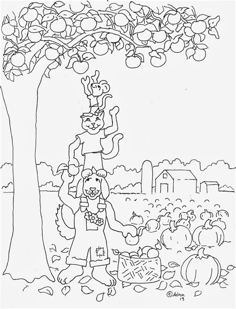 autumn harvest coloring pages coloring pages for kids by mr adron autumn harvest free