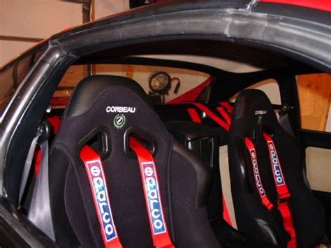 Harness Bar Racing convertible spyder seat mod to accept a 4 point belt mr2 owners club message board