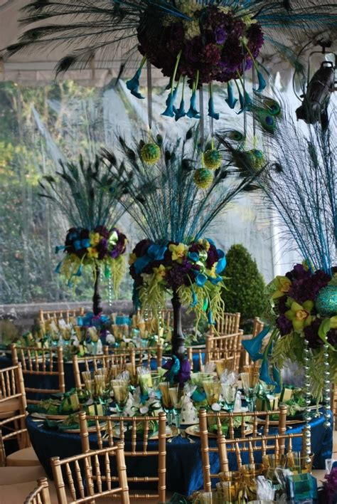 theme wedding table decorations wedding trend peacock themed weddings bridal