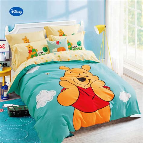 Set Bed Cover Karakter Pooh winnie the pooh printed comforter bedding sets children s bedroom 600tc cotton bed covers single