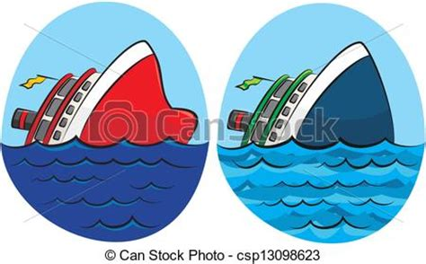 boat sinking icon vector illustration of sinking ship shipwreck on the sea