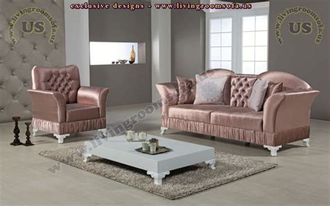 pink living room set avantgarde sofa sets classic modern design ideas