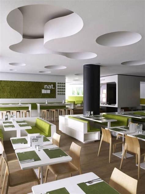 modern fast food restaurant interior decor  minimalist