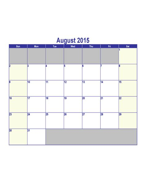 August Calendar 2015 Search Results For In August 2015 Calendar 2015