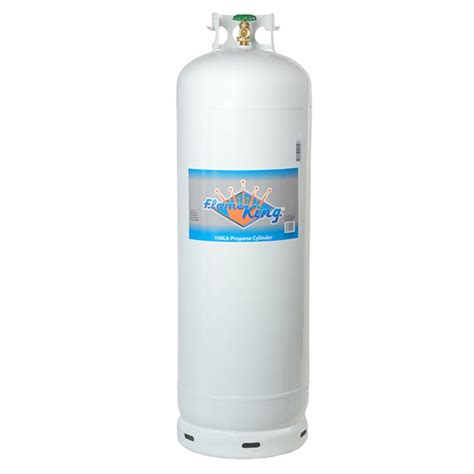 king 100 lb empty propane cylinder with pol valve