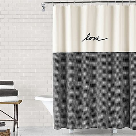 love shower curtain ed ellen degeneres love 72 inch x 72 inch shower curtain
