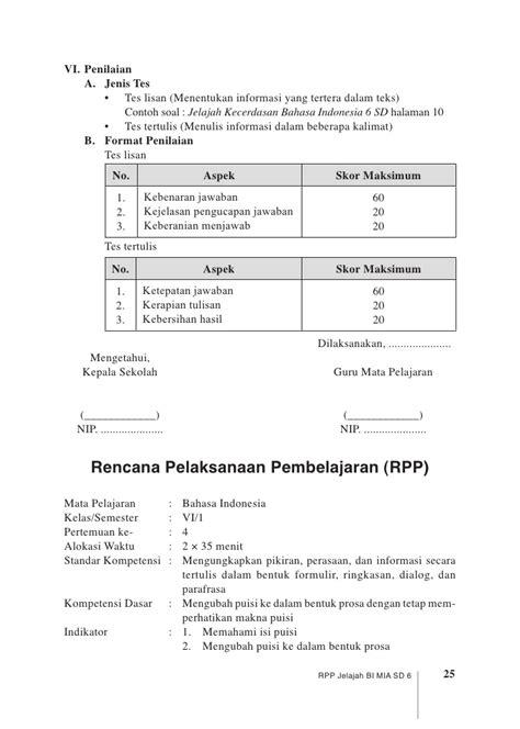 Beberapa Aspek Linguistik Indonesia rpp jelajah bi sd 6